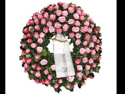 Rosen Trauerkranz rosa