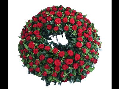 Rosen Trauerkranz Rot